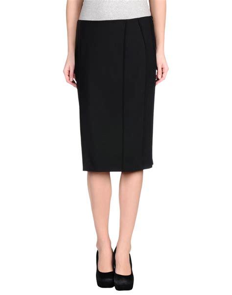 alberta ferretti knee length skirt in black lyst