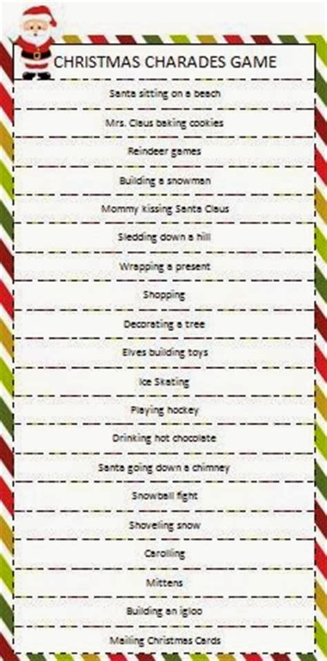 4 best images of christmas charades free printable new years eve games and ideas