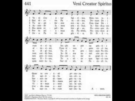 veni creator spiritus testo veni creator spiritus predica di padre raniero