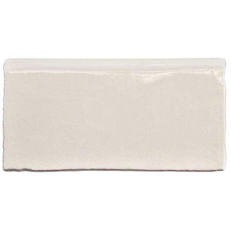 merola tile antic craquelle white 3 in x 6 in ceramic