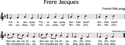 row row your boat french lyrics frere jacques are you sleeping beth s notes