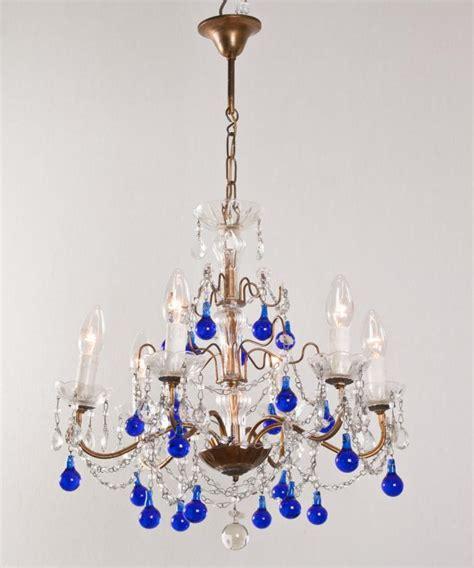 Cobalt Blue Chandelier Italian Chandelier Cobalt Blue Icicles Fineantiquechandeliers