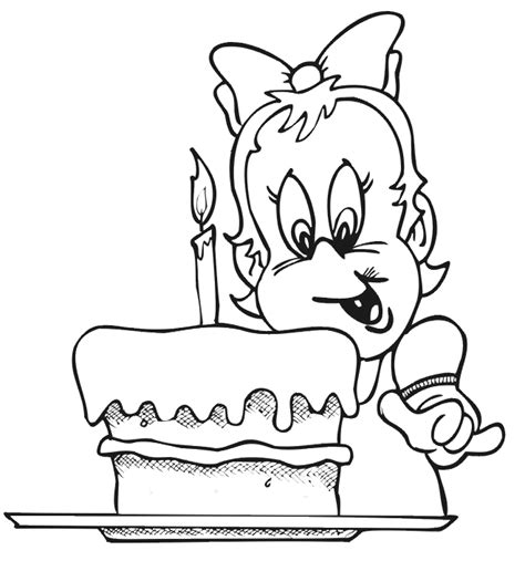 birthday coloring pages for 4 year olds birthday coloring page a 1 year old girl with her cake