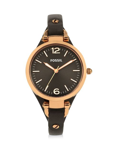 Promo Fossil Fs5000 Leather Vintage Chronograph buy fossil smoke leather es3077 for