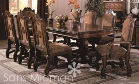 brussels traditional formal dining room set 9 piece w details about new furniture formal 9 piece renae dining