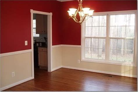 chair rail color schemes dining room for the home
