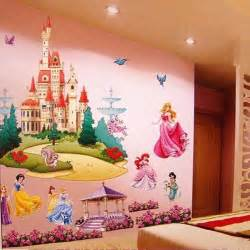 Colorful Wall Stickers Aliexpress Com Buy Large Colorful Princess Castle Wall