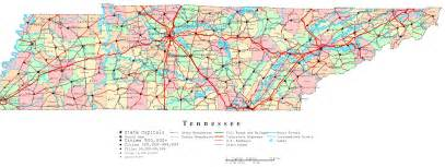 A Map Of Tennessee by Tennessee Printable Map