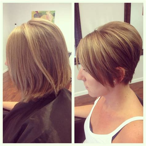 clippered back bob haircut before and after short bob clippered styles pinterest