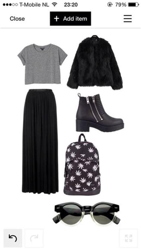 Rihana Maxy By Zm shoes maxi skirt black backpack grey fur crop tops
