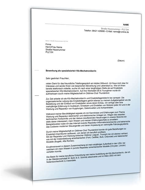 Ausbildung Bewerbungsschreiben Mechatroniker Bewerbung Kfz Mechatroniker Ausbildung Yournjwebmaster