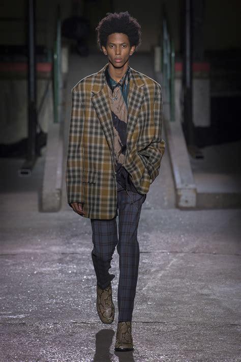 dries noten fall 2018 menswear fashion show collection 2018 rutig