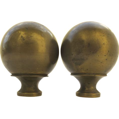 bed finials pair of vintage ball brass bed finials