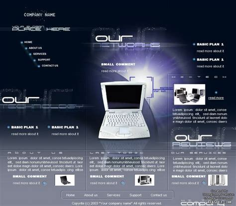 free computer website templates computer technology template millions