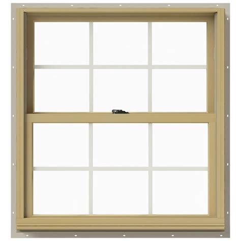 Jeld Wen Aluminum Clad Wood Windows Decor Jeld Wen 33 375 In X 36 In W 2500 Hung Aluminum Clad Wood Window Thdjw177200494 The