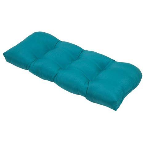 outdoor settee cushion hton bay emerald coast tufted outdoor settee cushion