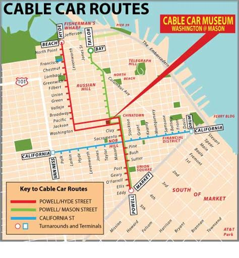san francisco trolley map pdf san francisco cable car routes
