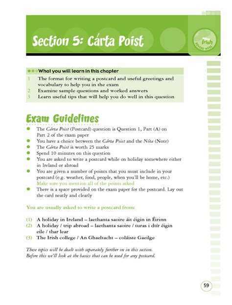 irish letter layout junior cert irish ol revise wise