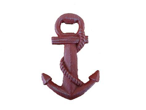 buy rustic whitewashed cast iron anchor bottle opener