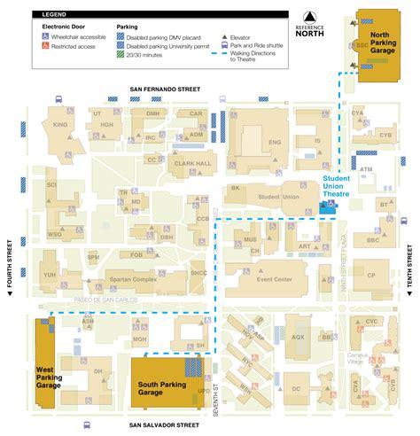 san jose parking map venue sportstech san jose state