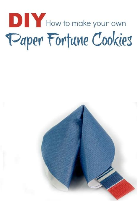How To Make Fortune Cookies With Paper - paper fortune cookie for fortune cookie and paper