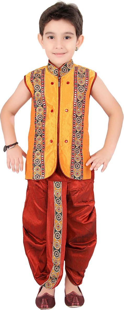 dhoti pattern kurti online kute kids baby boys dhoti kurta set buy multicolor