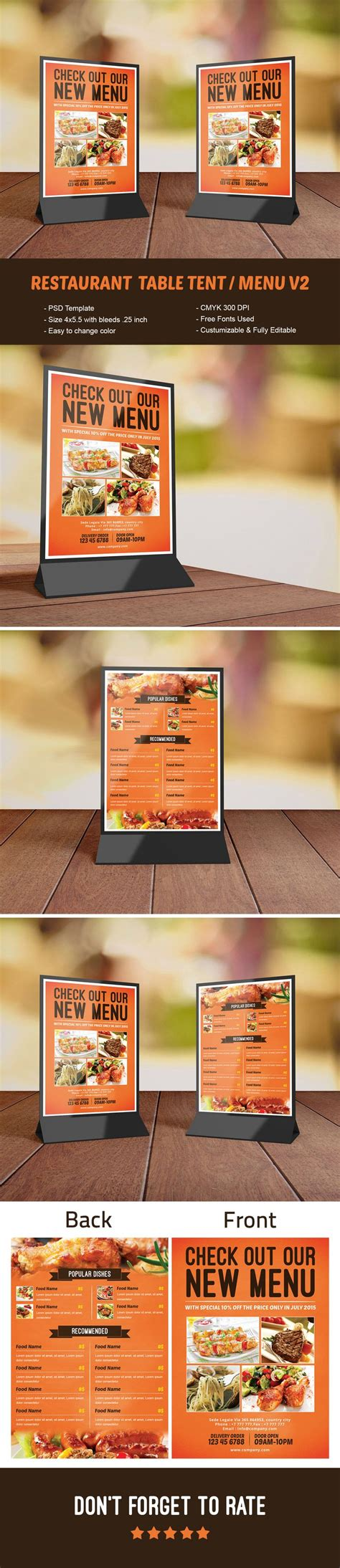 top 4 x 6 table tent template free template 2018