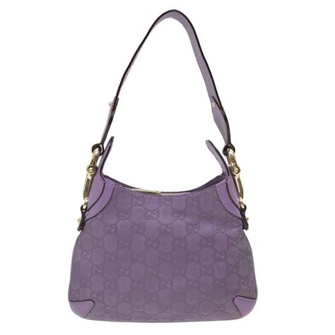 gucci lilac monogram leather mini bag  stdibs