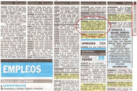 anuncios y clasificados clasificados empleos autos periodico tribuna de periodistas