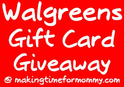 Restaurant Gift Cards At Walgreens - 50 walgreens gift card giveaway