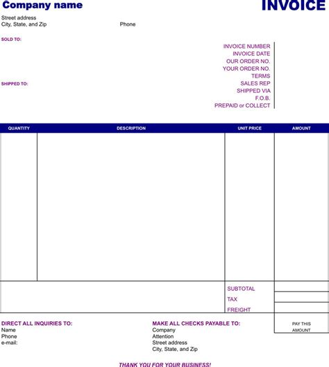 basic invoice template download free premium templates