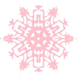 pink snowflake  icon  pink snowflake icons