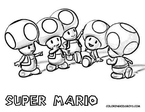 cartoons coloring pages super mario coloring pages