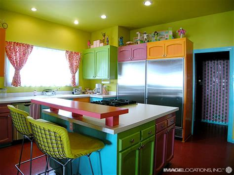 Colourful Kitchens | beach dream house design colorful kitchen design magzmagz