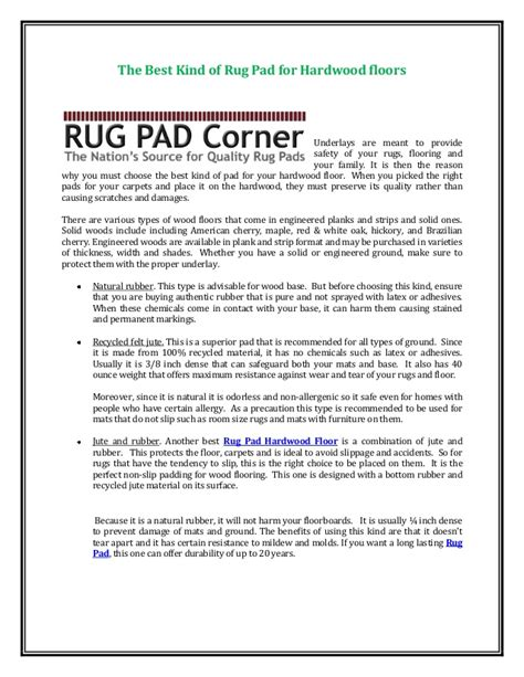 best type of rug pad for hardwood floors the best of rug pad for hardwood floors