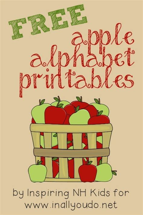 printable alphabet apples free printable apple alphabet cards