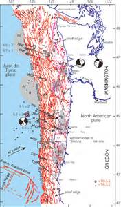 oregon fault lines map transverse faulting