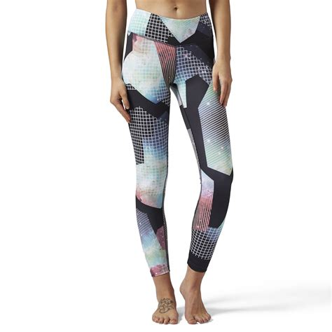 Syncwear Fitness Designed For Wearing Your Nano At The by Reebok Bold Legging Brilliant Print Purple Reebok Us