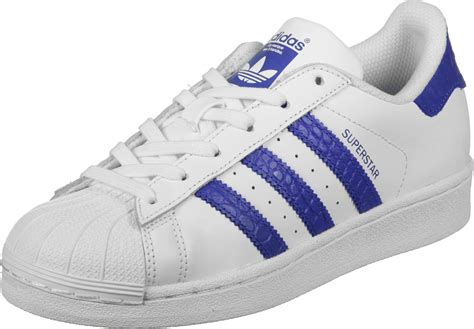 adidas superstar   shoes white blue