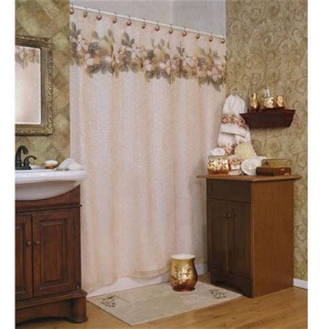 Magnolia Kitchen Curtains Magnolia Shower Curtain Shower Curtains At Hayneedle