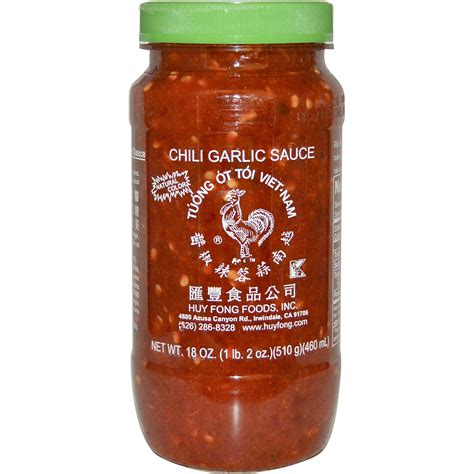 huy fong foods inc chili garlic sauce 18 oz 510 g