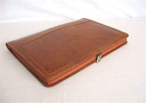 Handmade Leather Portfolio - leather portfolio vegetable tanned cognac leather