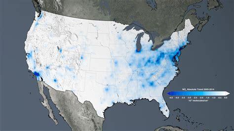 air pollution map america new nasa satellite maps show human fingerprint on global