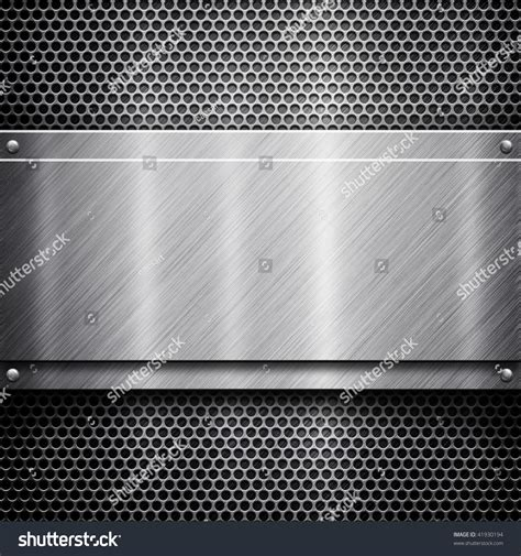 Metal Template Background Silver Pack Stock Photo 41930194 Shutterstock Metal Template