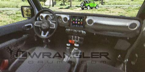 2018 jeep wrangler jl interior 2018 jeep wrangler interior leaked equipment autocar india
