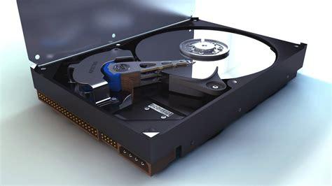 Hardisk 3d 3d Model Drive Components