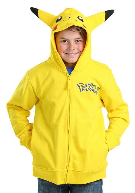 pokemon pikachu costume hooded sweatshirt for boys