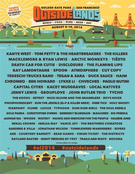 printable outside lands schedule related keywords suggestions for outside lands rumors