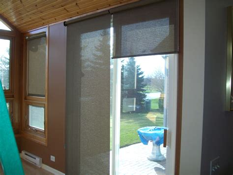 Patio Door Roller Shades Thrilling Glass Door Shade Patio Ideas Sliding Glass Door