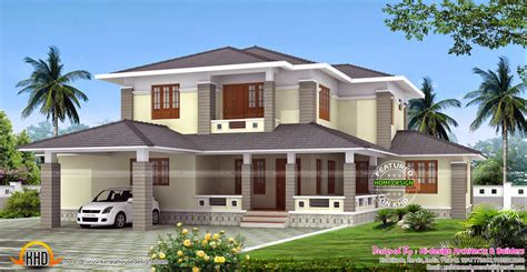 House Design Style 2015 by 2700 Sq Ft Kerala Style Sloped Roof House Kerala Home